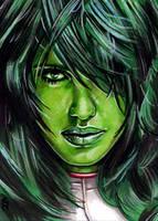 She-Hulk Sketch Card 7 by veripwolf