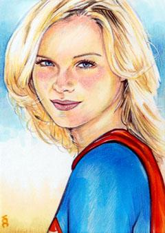 Supergirl Sketch Card 3 by veripwolf