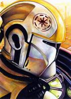 Clone Trooper Sketch Card by veripwolf
