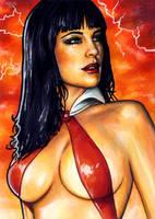 Vampirella Sketch Card 1 by veripwolf