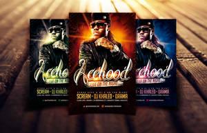 Acehood Rap Hip Hop flyer by Dannygdesigns