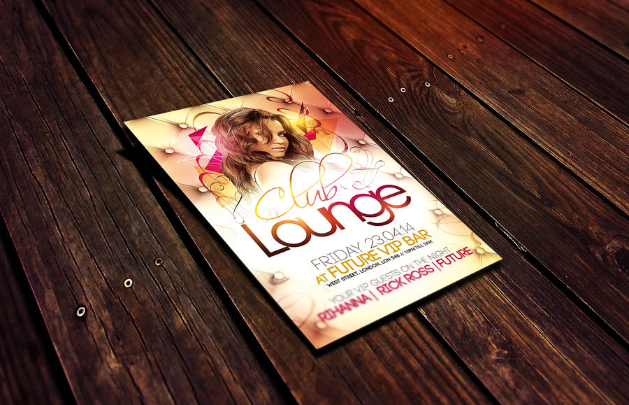Club Lounge Flyer Template By Dannygdesigns On Deviantart