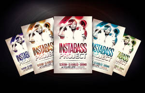 Instabass Project Party/Club Flyer Template by Dannygdesigns