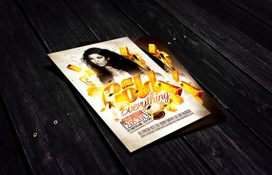 All Gold Everything Flyer Template by Dannygdesigns