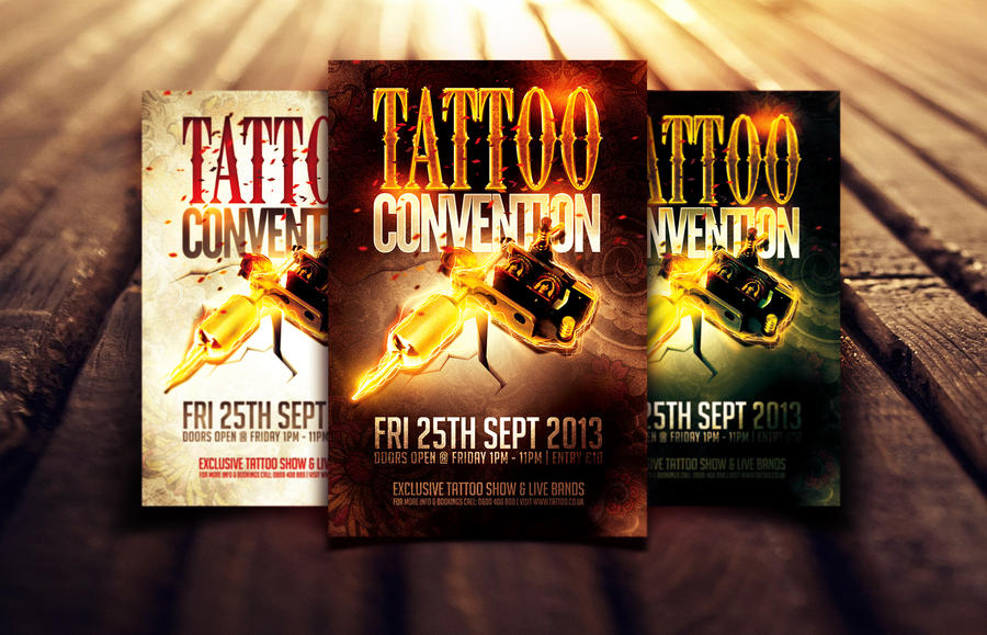 tattoo convention flyer template by dannygdesigns on deviantart. Black Bedroom Furniture Sets. Home Design Ideas