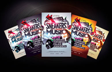 Sneakers and Music Flyer Template