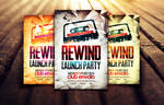 Rewind Launch Party Flyer Template