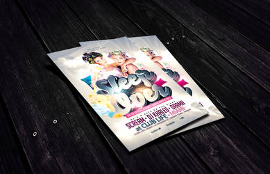 Sleep Over Party Flyer Template