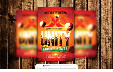 Music Festival Flyer Template PSD