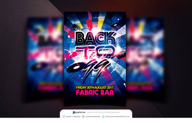 Back to 99 Flyer Template PSD