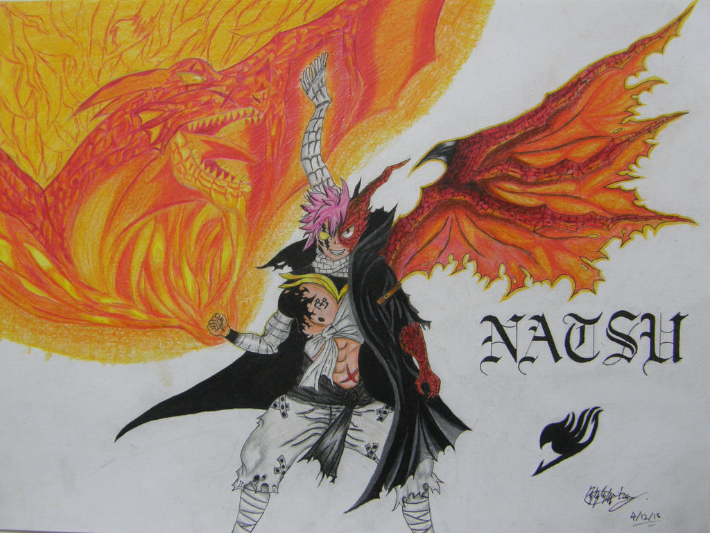 natsu dragneel dragon form by Squid-with-pen on DeviantArt