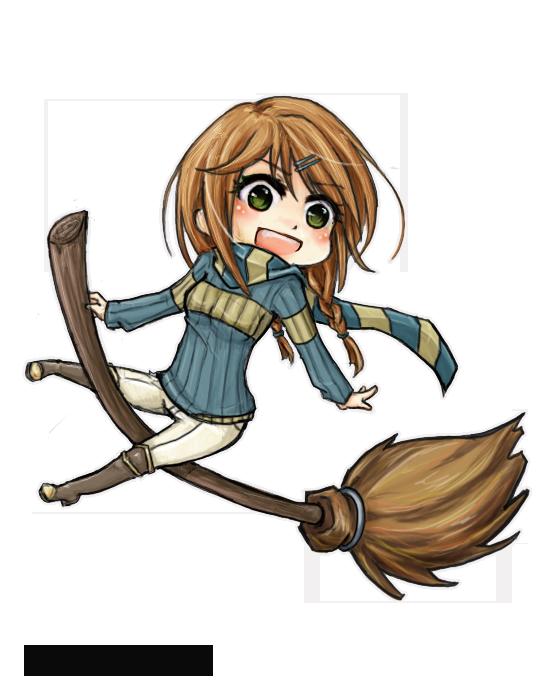 .:Ashland- Ravenclaw Quidditch Chibi:. by YuukiMONSTER