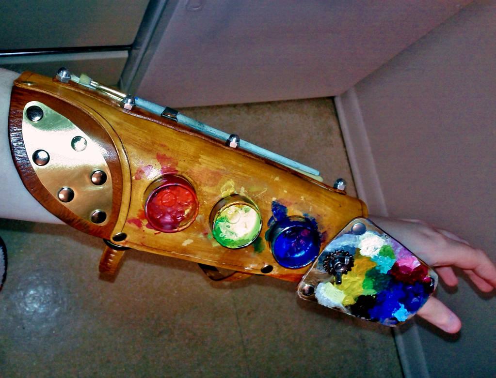 Steampunk Painter's Bracer by Delireum