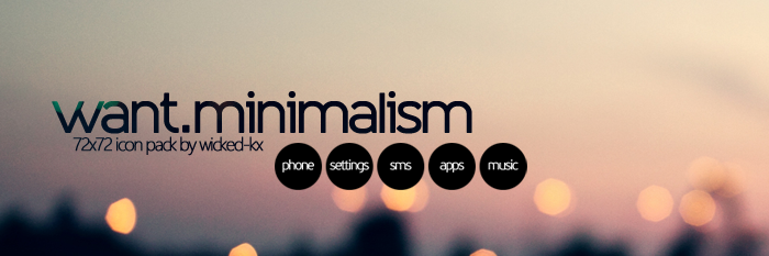 want minimalism +icons pack! by wicked-kx on DeviantArt