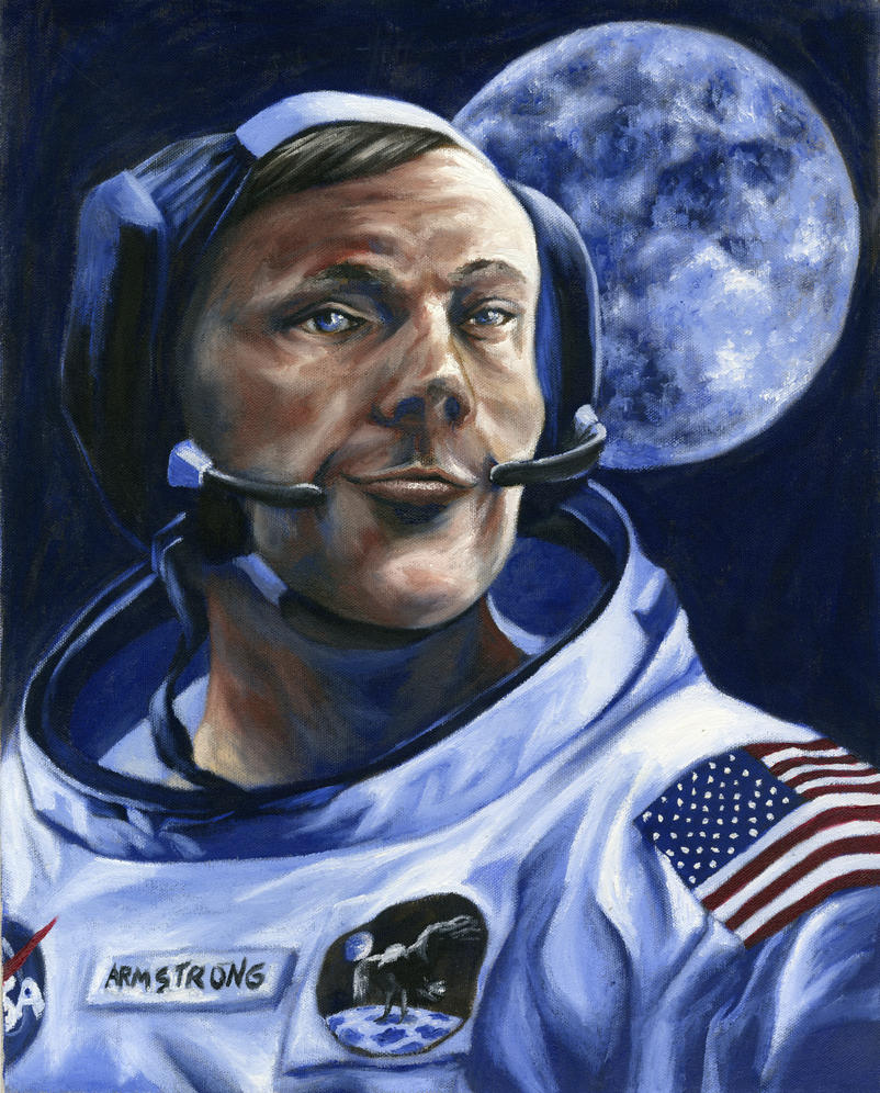 Neil Armstrong by Luthienshadows
