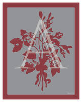 Bouquet Monogram Digital Print by LaPointeVArt