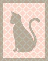 Cat Lover Nursery Art Pattern Print by LaPointeVArt