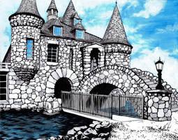 Boldt Castle by LaPointeVArt