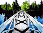 Wanakena Footbridge by LaPointeVArt