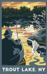 Trout Lake Travel Poster by LaPointeVArt