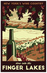 Dive Into The Finger Lakes Travel Poster by LaPointeVArt