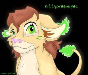 New fursona? by KittyGreenEyes