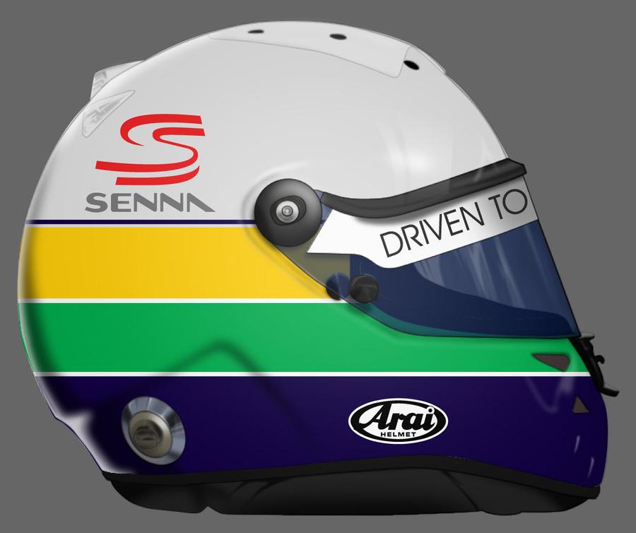 Ayrton Senna 1st Helmet By GusBor On DeviantArt