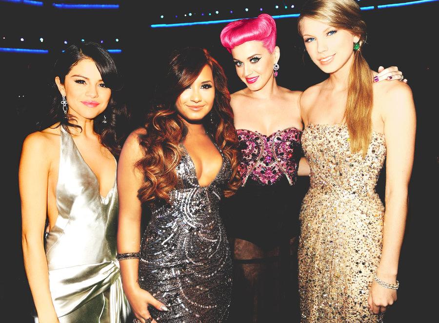 Selena Gomez Demi Lovato Taylor Swift Katy Perry Slams Feuding  Campus