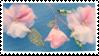 pink flowers stamp by hyenatxt