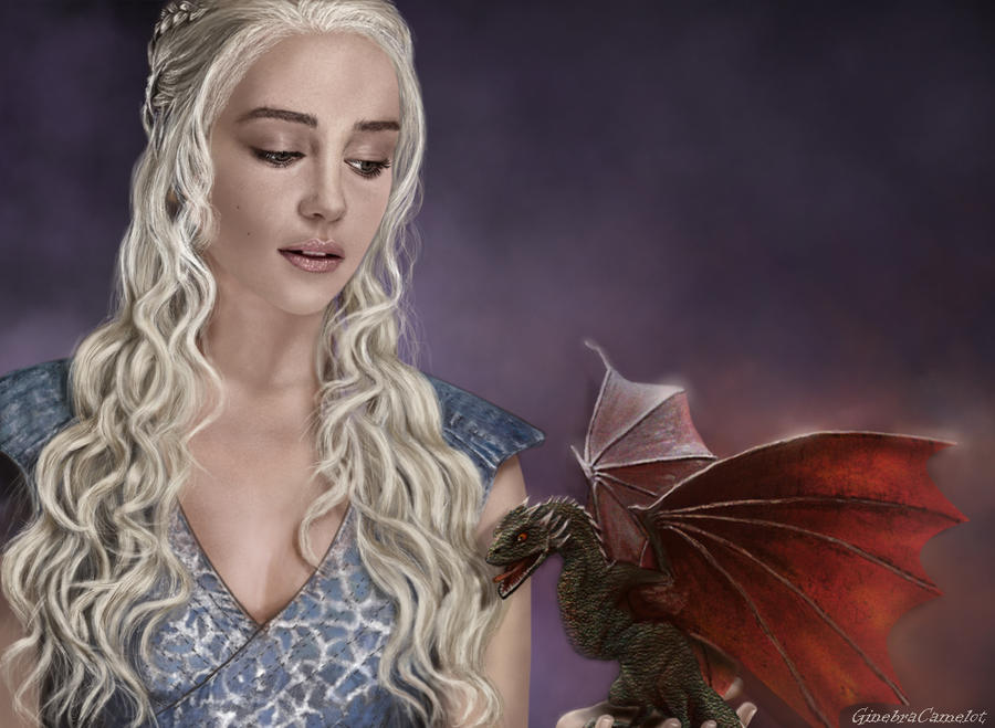 Daenerys and dragon by GinebraCamelot