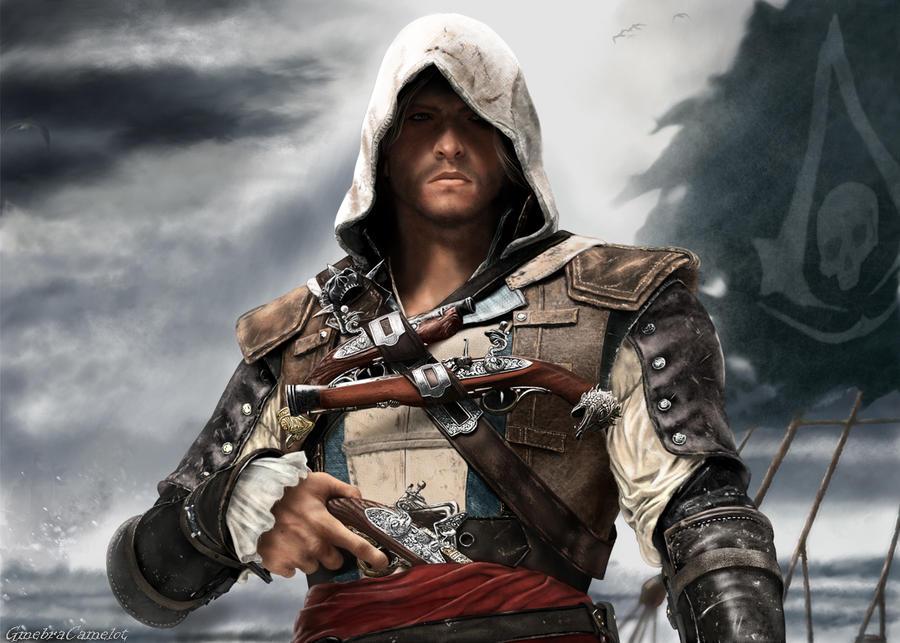Assassins Creed Black Flag Tattoo Design