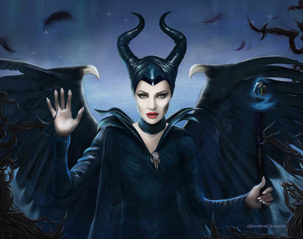 The wings of Maleficent