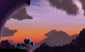 An Evening in Canterlot by Sorelstrasz
