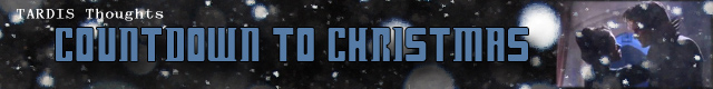 TARDIS Thoughts - Countdown to Christmas Banner by LitTechGirl