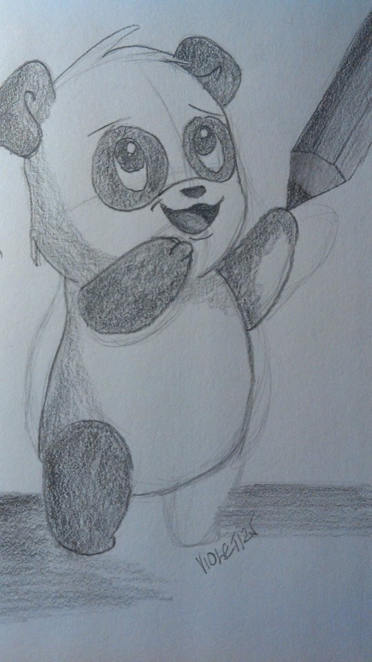 Panda drawing by Lali-the-Bunny