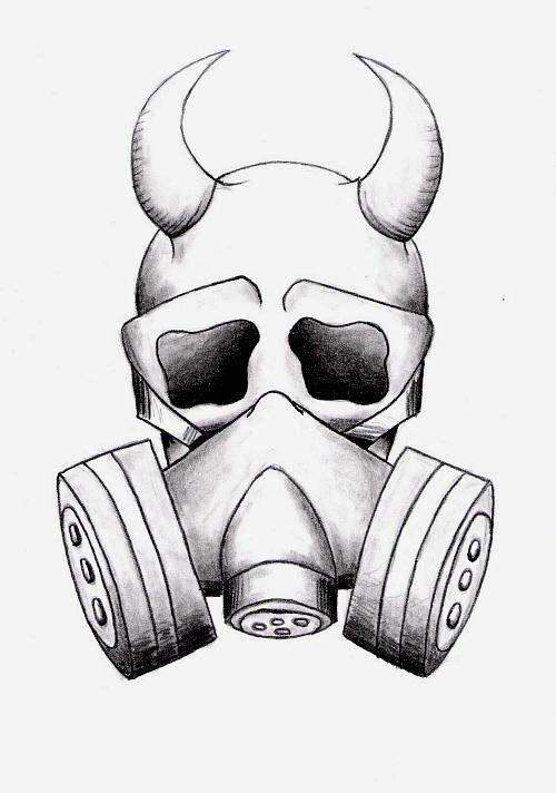 gas mask skull by painconsumesme on deviantart. Black Bedroom Furniture Sets. Home Design Ideas