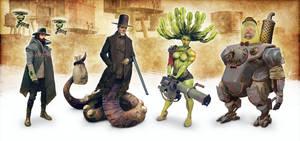 Cyberpunk Western Characterdesign