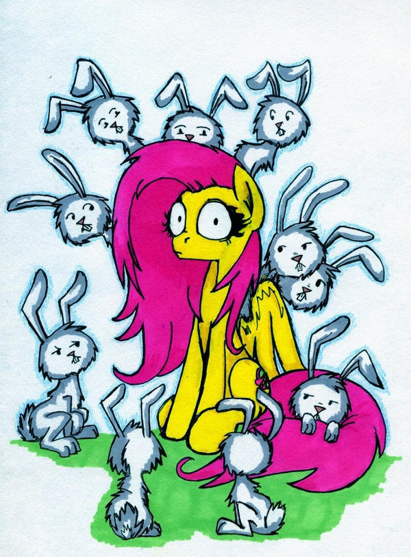 Rabbits. Rabbits everywhere by Crazy-Leg