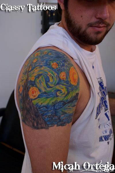 Van Gogh Starry Night Tattoo Van Gogh Starry Night Tattoo