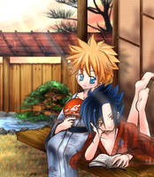 Summer Sunset: NaruSasu : by Solyar