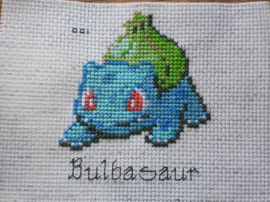 Bulbasaur Cross Stitch by Mickeycricky