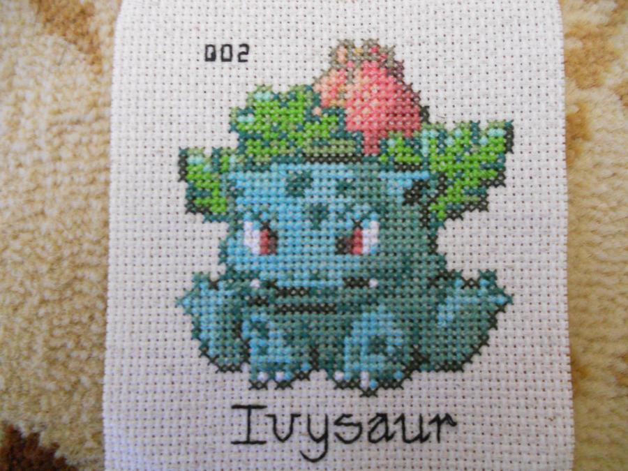 Ivysaur Cross Stitch by Mickeycricky