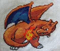 Epic Charizard Cross Stitch by Mickeycricky