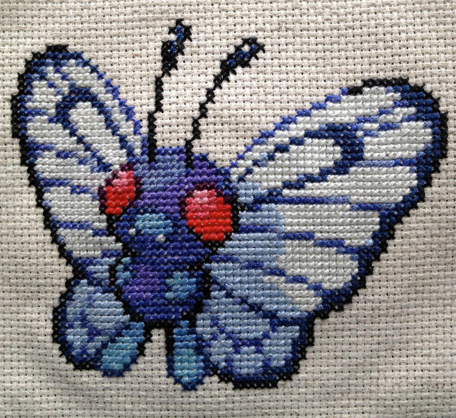 Butterfree Cross Stitch by Mickeycricky