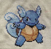 Wartortle Cross Stitch by Mickeycricky