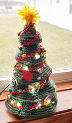 Crochet Tiered Christmas Tree - The Misfit Tree by Mickeycricky