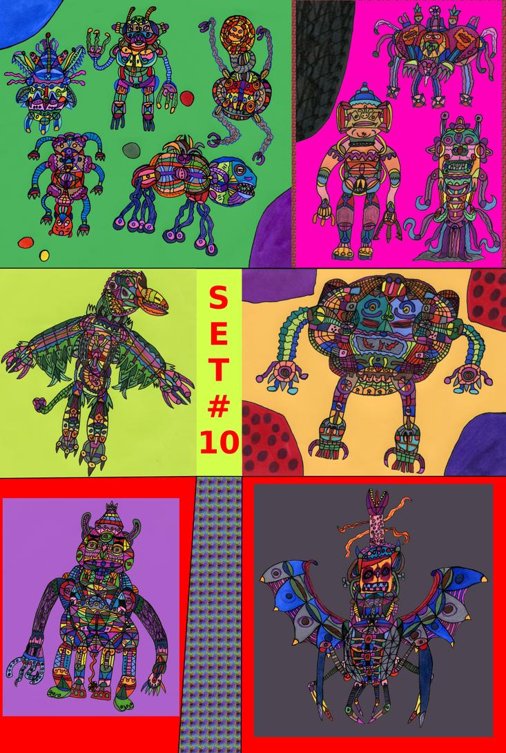 Nava-Verse Archives #58: Creatures Set 10 by MolemanNineThousand