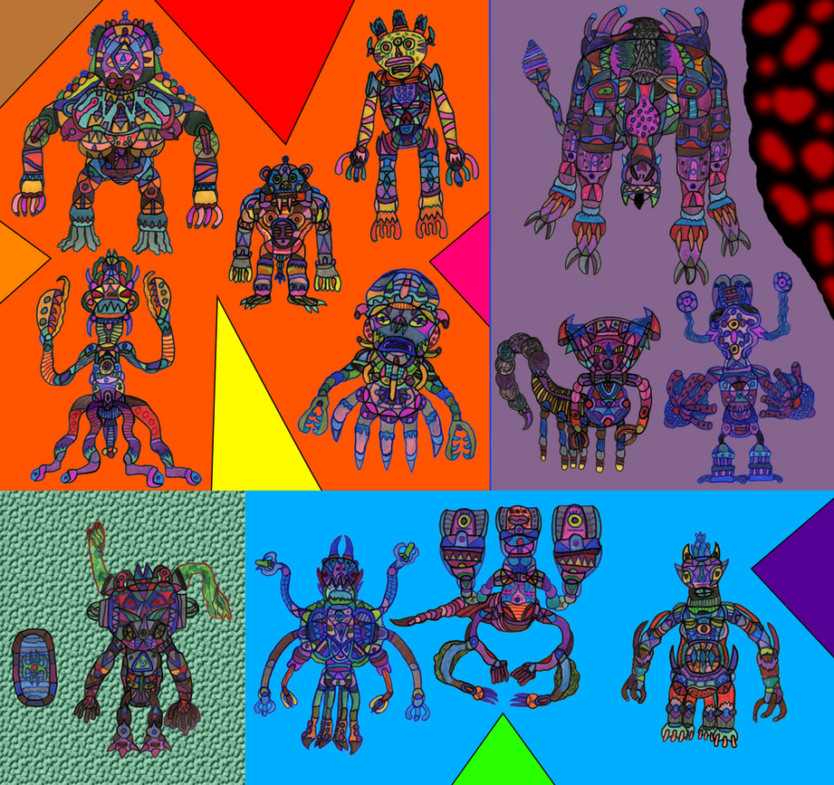 Nava-Verse Archives #60: Creatures Set 12 by MolemanNineThousand