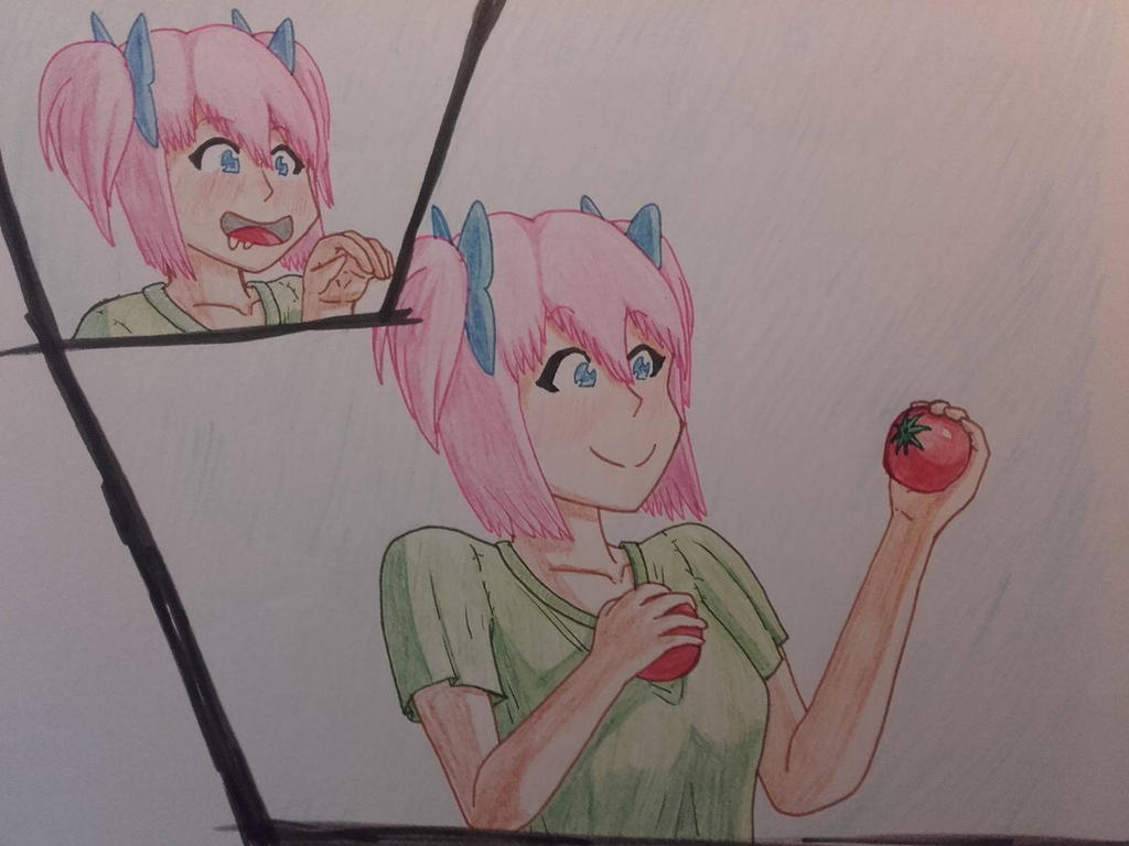 Hazel loves tomatoes by MajesticHentaiSenpai