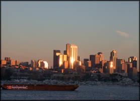 seattle at dusk by avatare